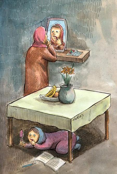 کاریکاتور آرایش, کاریکاتور مفهومی