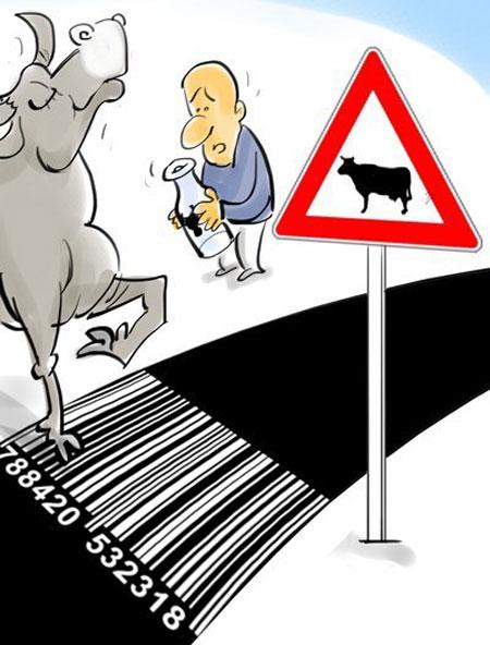 کاریکاتور گرانی, کاریکاتور گرانی شیر