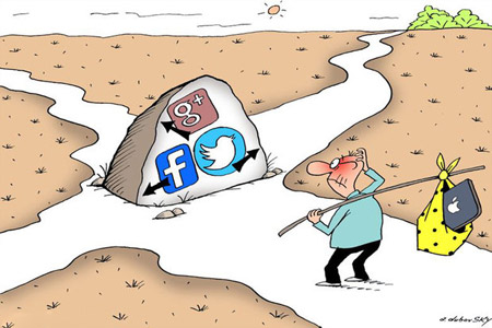 کاریکاتور تلگرام, کاریکاتورهای مفهومی