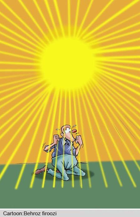 کاریکاتور گرمای شدید , کاریکاتور گرمای شدید تابستان